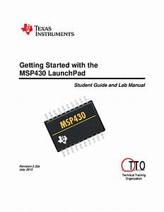 Pdf  Getting Started With The Msp430 Launchpad Student