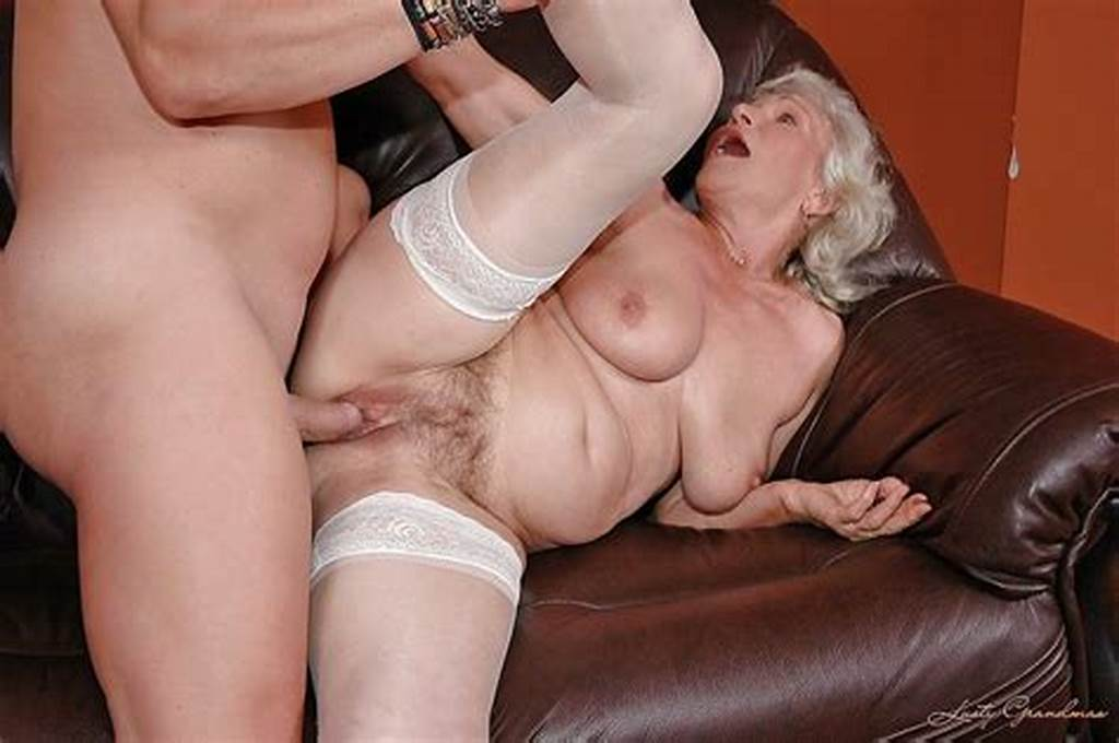 #Slutty #Granny #In #White #Stockings #Gives #A #Blowjob #And #Gets