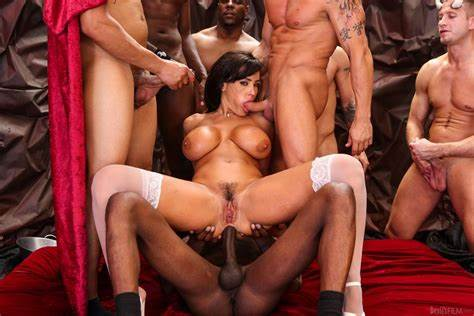 Groupsex Sex Gangbang In The Mountains Loads Of Semen Are Pouring Down Lisa Anns Face And Figure