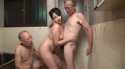Sexy Mature Pigtailed Enjoying Porn With Grandpa
