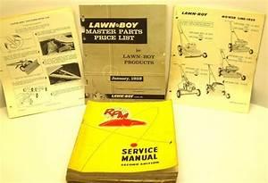 Vintage Lawn Boy Iron Horse Parts Catalogs Service Manuals