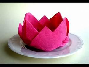 Servietten Blumen Falten : servietten falten rose bl te blume einfache tischdeko selber machen origami youtube ~ Watch28wear.com Haus und Dekorationen