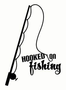 Hooked On Fishing Wall Decal Sticker With Fish Pole