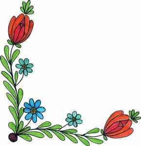 5 Flower Corner Drawing (PNG Transparent) | OnlyGFX.com