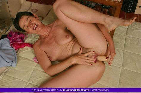 Perverse Blue Haired Granny Likes Mature Lover