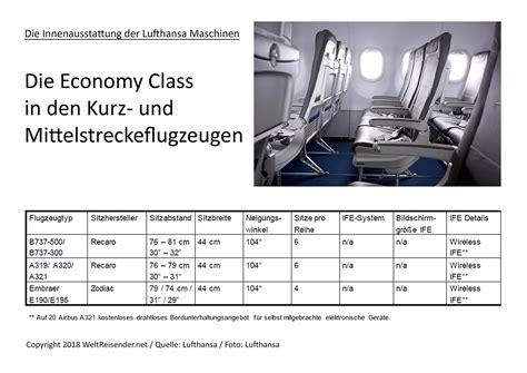 Lufthansa Kabine Mittelstrecke Economy WeltReisender