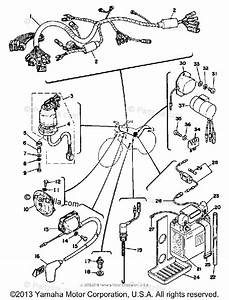Yamaha Motorcycle 1976 Oem Parts Diagram For Electrical