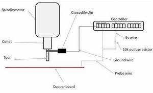 Cnc Probe Setup Diagram  Shows The Basic Wiring To Use The