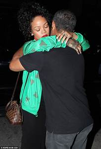Rihanna greets father Ronald as they head out for dinner