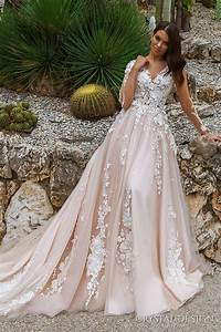 crystal design 2017 wedding dresses haute couture bridal With long sleeve blush wedding dress