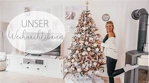 Weihnachtsbaum Schmücken Anleitung : weihnachtsbaum schm cken diy baumkugeln i rosegold youtube ~ Watch28wear.com Haus und Dekorationen