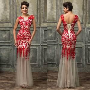 sirene rouge longue robes de marieedemoiselle d39honneur With de robe de mariée