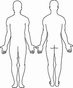 Body Outline Coloring Page