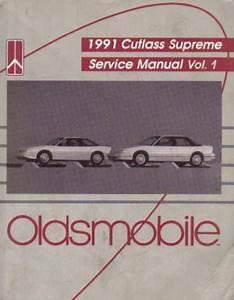 Used 1991 Oldsmobile Cutlass Supreme Service Manual