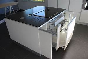 plan de cuisine avec ilot central galerie et cuisine With plan de cuisine avec ilot central