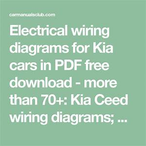 Electrical Wiring Diagrams For Kia Cars In Pdf Free