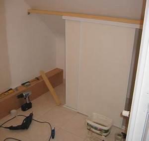 comment faire un placard placard combles sous les combles With fabriquer ses portes coulissantes