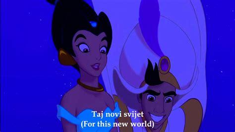 Aladdin A Whole New World (Croatian) Subs+Trans YouTube