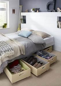 Rangement Sous Le Lit : des rangements malins glisser sous le lit astuces diy ranger rangement pinterest ~ Farleysfitness.com Idées de Décoration