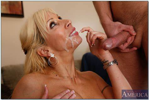 Fat Breasty Granny Wants  Haired Prick Facials On Her