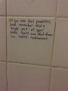 the 20 most epic things ever written in bathroom stalls With public bathroom glory hole