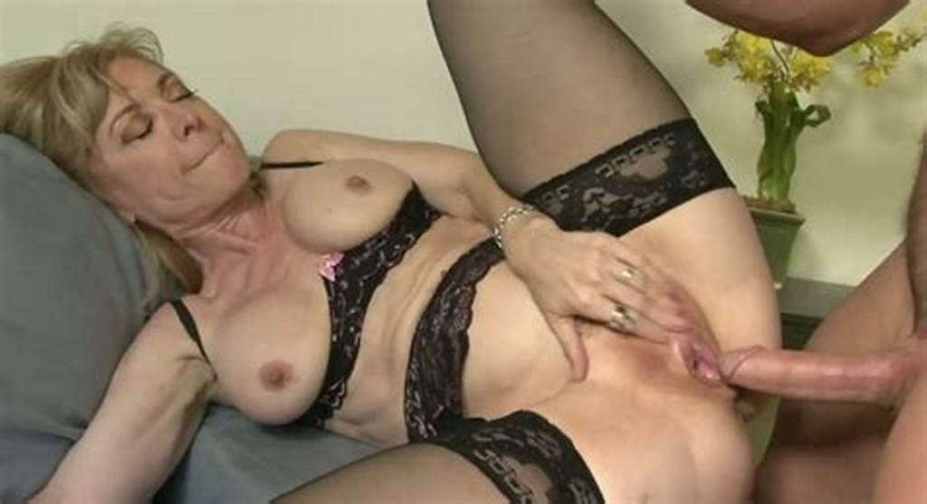 #Mature #Madame #In #Stockings #Nina #Hartley #Gets #Her #Snatch #Banged #Well