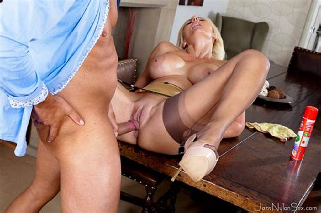 #Busty #Uk #Blonde #Jan #Burton #Screwing #In #Her #Satin #Six