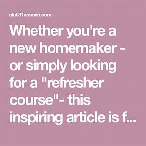 Homemaking 101  Twelve Daily Disciplines For The Beginning