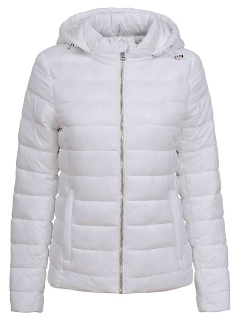 Glo-Story fehér női pufi kabát