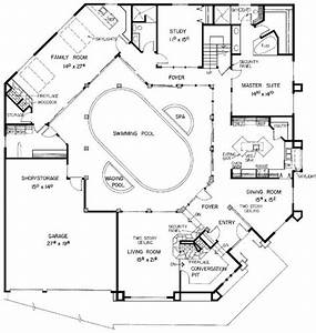 How Sweet Is This  The Pool Is In The Middle Of The House   Mediterranean House Plan Id  Chp