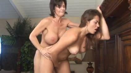 Big Tits Lesbian Anal Strapon
