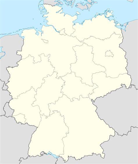Entdecken sie unsere leistungen, die in projekten zusammenfließen. Germany blank map - Full size