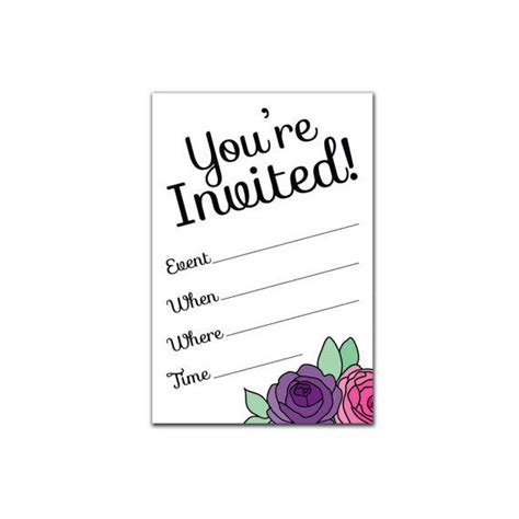 Printable Party Invitation Set from ItsAllPrintable on Etsy