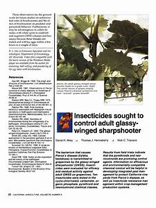 Pdf  Insecticides Sought To Control Adult Glassy