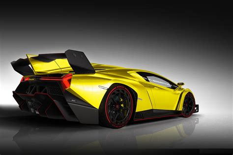 Yellow Lamborghini Veneno 2014 HD Wallpaper - 9to5 Car Wallpapers