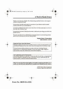 2003 Mazda Mx 5 Miata Owners Manual