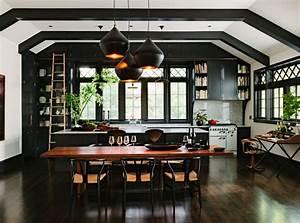 10 unique painting ideas featuring black trim for Interior paint ideas dark trim