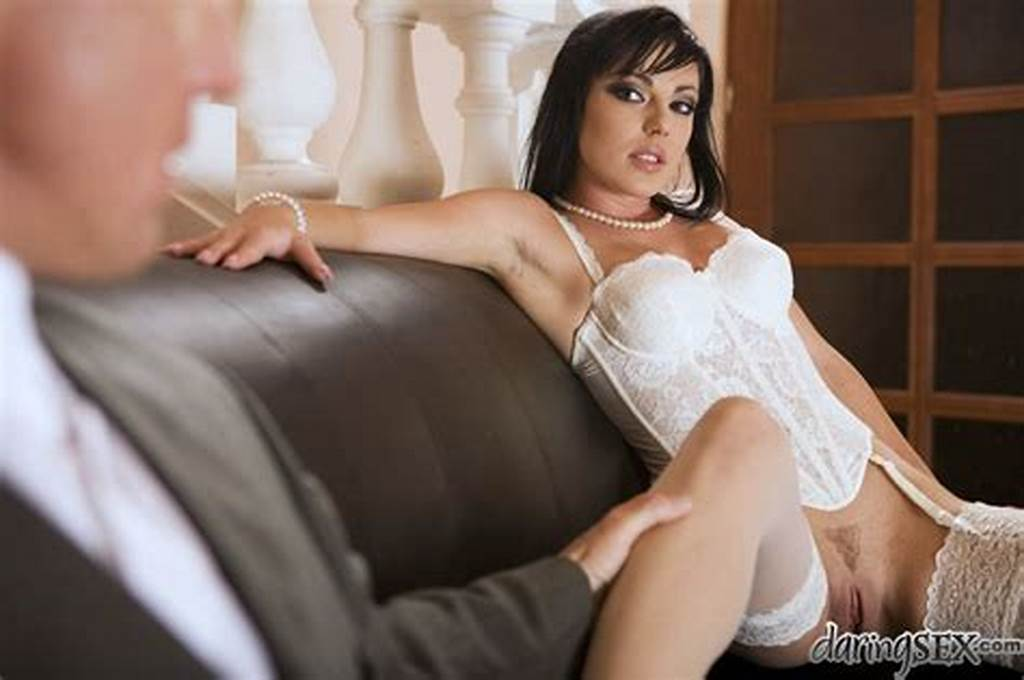 #Slutty #Bride #Tina #Gabriel #Gives #A #Footjob #And #Gets #Fucked