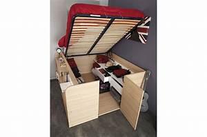 Lit Gain De Place : lit multifonctions gain de place roxy cbc meubles ~ Premium-room.com Idées de Décoration