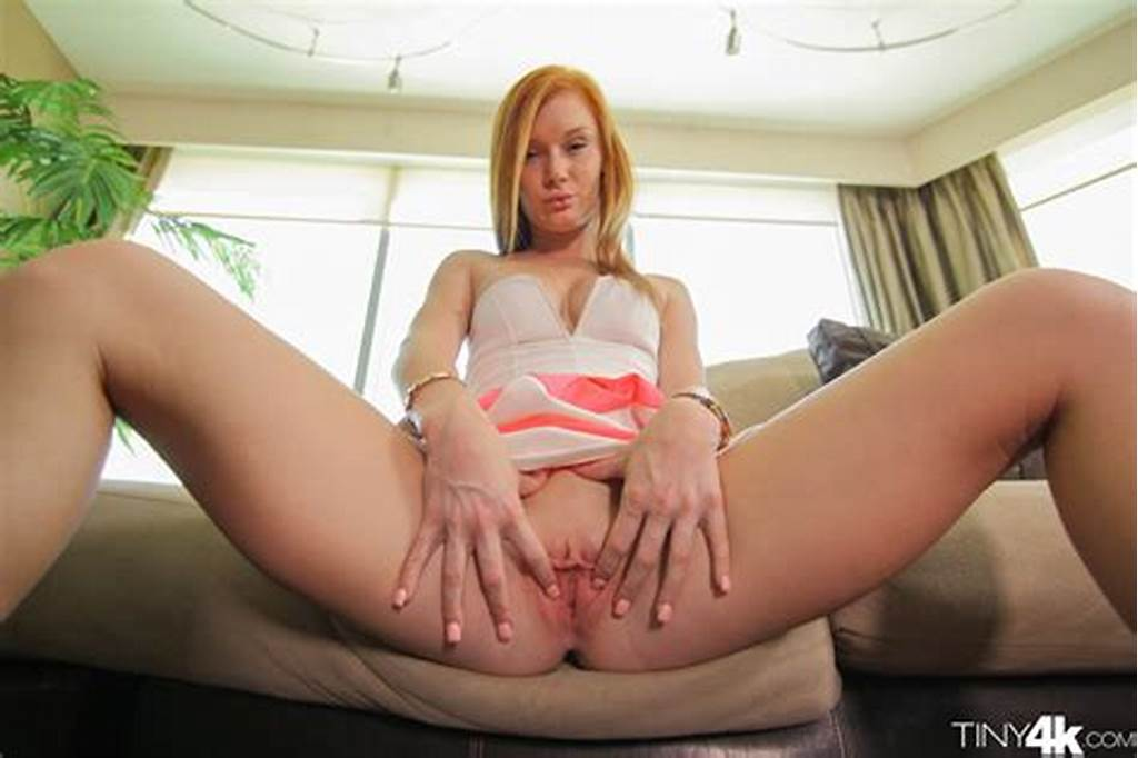 #Tiny #Little #Redhead #Stretches #Her #Pussy #With #A #Vibrator #To