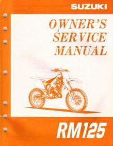 1997 Suzuki Rm125v Owners Service Manual