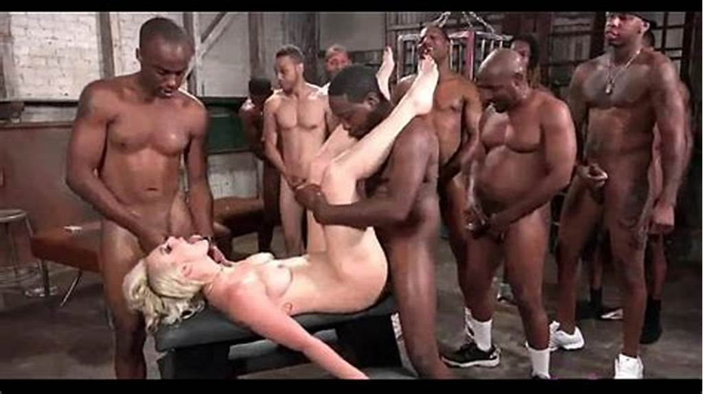 #Gangbang #Wife #Black #Cocks #Anal #Pain