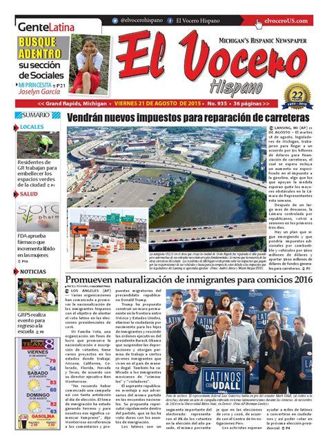 El Vocero Hispano 21 de Agosto de 2015 by El Vocero