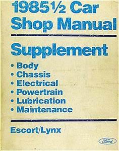 1985 5 Ford Escort Mercury Lynx Electrical Troubleshooting