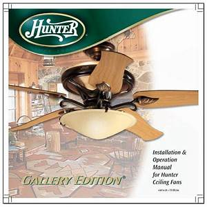 Hunter Ceiling Fan Manual Installation