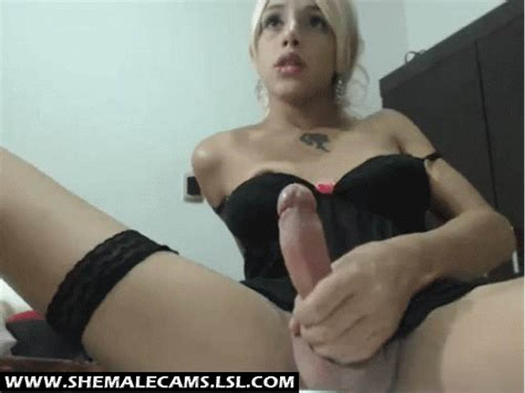 #Blonde #Shemale #Cam #Beauty #Stroking #Her #Hard #Cock