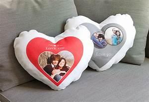 Herzkissen Mit Foto : herzkissen mit foto bedrucken smartphoto ihr online ~ Watch28wear.com Haus und Dekorationen