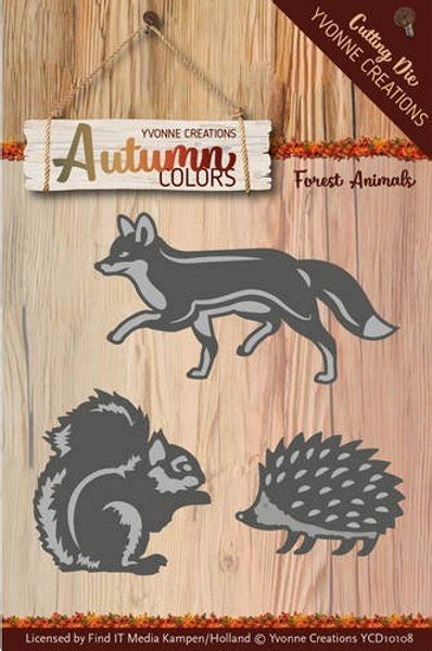 Yvonne Creations Autumn Colors Forest Animals Die
