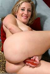 Shaved milf anal toys