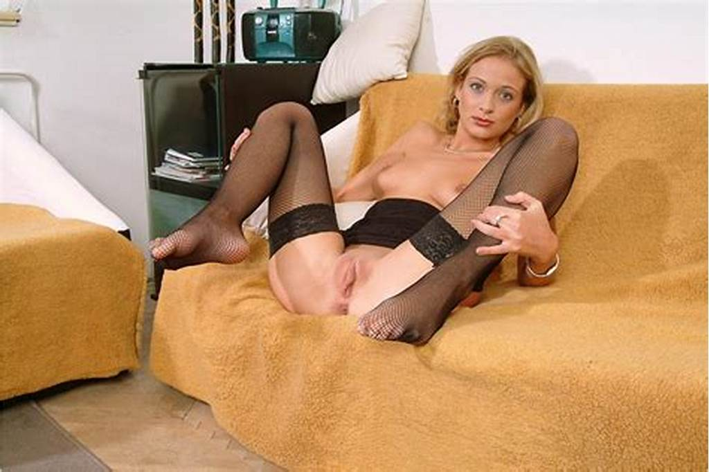 #Hot #Russian #Blonde #Milf #In #Stockings #Shows #Her #Big #Shaved